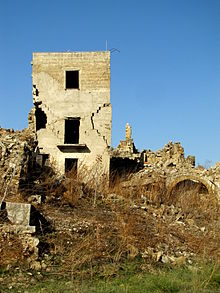 Ruderi del vecchio borgo di Salaparuta