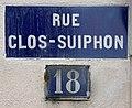 Rue Clos-Suiphon (Lyon) - plaque de rue.jpg