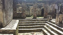 Ruins of Songo Mnara, inside the main building.jpg