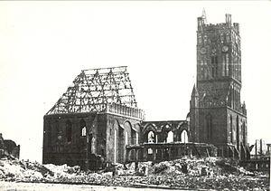 Szczecin Cathedral - Image: Ruiny kosciola sw. Jakuba