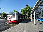 Ruzyně, Terminál 1, autobus AE, zezadu.jpg