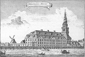 Johan Christian Conradi - Conradi's Royal Boarding School as it appeared prior to later alterations and expansion