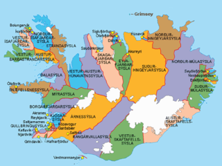 Counties of Iceland Wikimedia list article