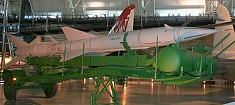 S-75 Dvina - SA-2 Guideline missile on display at the National Air and Space Museum