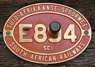 South African Class 5E1, Series 4 - Image: SAR Class 5E1 Series 4 E894