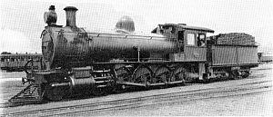 South African Class 8E 4-8-0 - CGR 8th Class no. 814, SAR Class 8E no. 1231