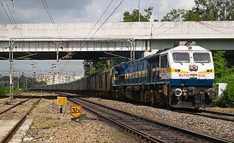 EMD GT46PAC - A WDP4D of Gooty Loco Shed hauling Secunderabad to Pune Shatabdi express near Lingampally Railway Station