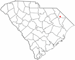 Location of Latta in South Carolina