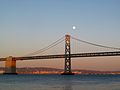 SF Bay Bridge moon sunset.jpg
