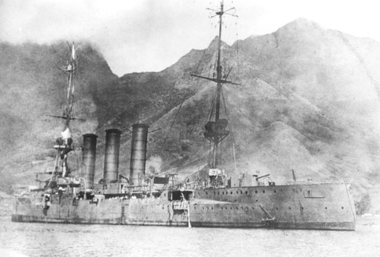 SMS Dresden before scuttling