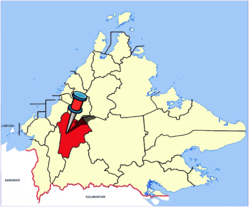Location of Keningau Town