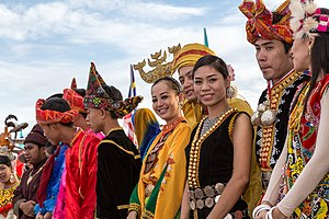 Demographics of Sabah - A slight view of ethnic groups in Sabah with their respective traditional dress.