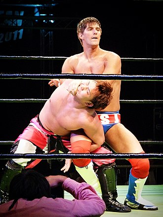 Zack Sabre Jr. - Sabre wrestling Katsuhiko Nakajima at Pro Wrestling Noah's European Navigation in 2011