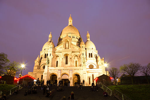 Sacré-Cour, Paris at night