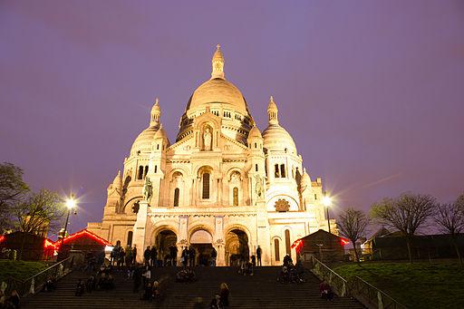 Sacr�-Cour, Paris at night