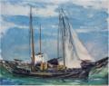 SaekiYūzō-1926-Ship at Anchor-3.png
