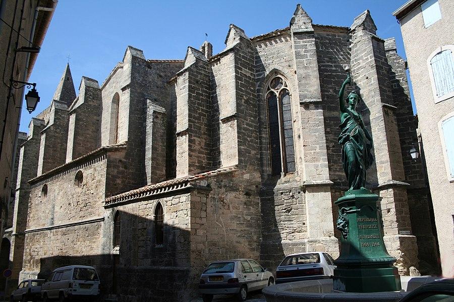 Saint-Pargoire (Hérault) - chevet de l'église Saint-Pargoire.