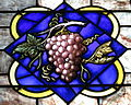 Saint Luke Catholic Church (Danville, Ohio) - stained glass, grapes.JPG