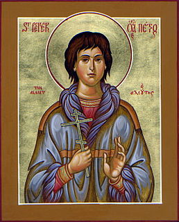 Martyr and saint