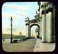 Saint Petersburg. Hermitage (formerly the Winter Palace) partial view of entrance on Dvortsovaia (Palace) Square.jpg