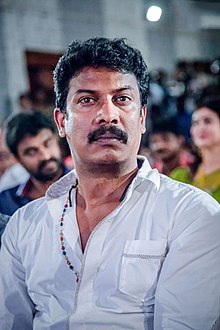 Samuthirakani at Sandamarudham Audio Launch.jpg