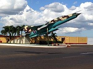 San Antonio de los Baños Airfield - Image: San Antonio de los Baños airfield gate guardian