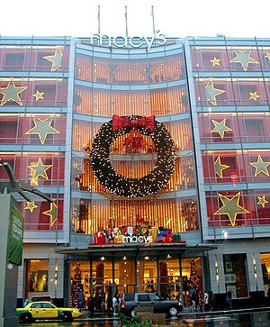 Macy's West - The Macy's West flagship store decorated for Christmas at Union Square in San Francisco.