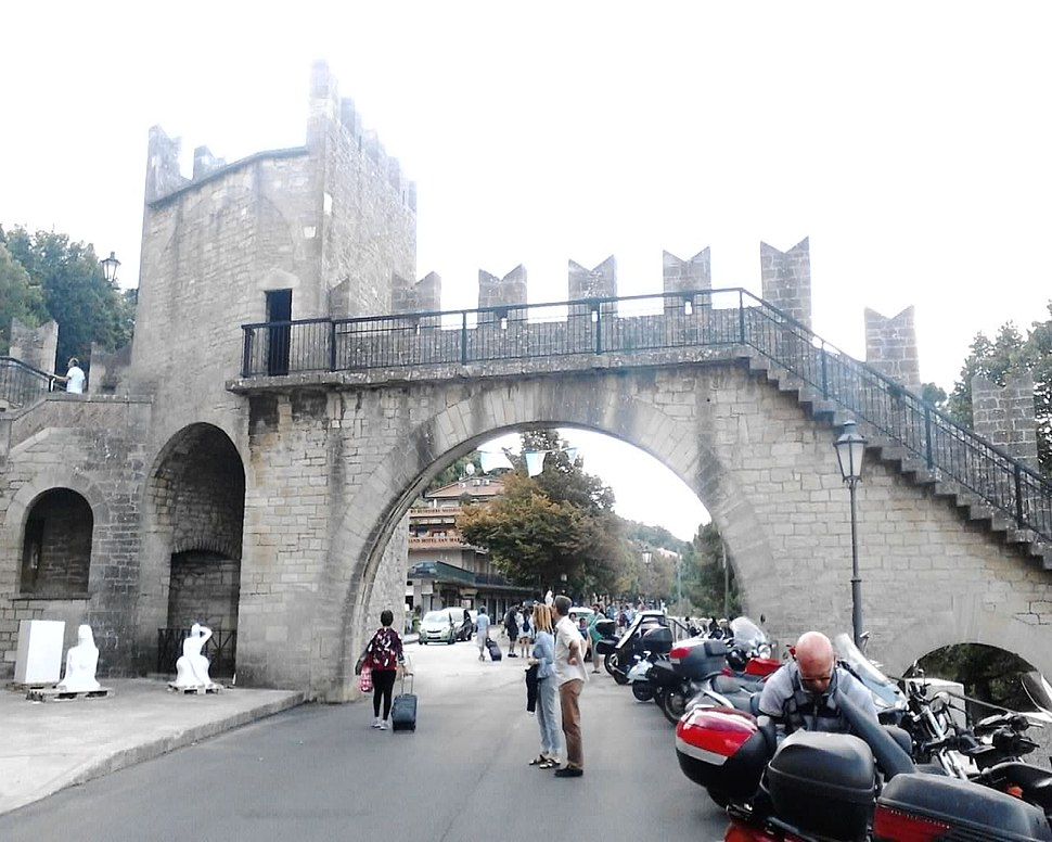 A defensive wall located in City of San Marino, San Marino