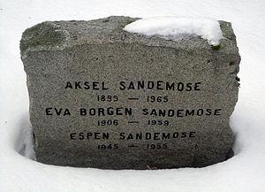 Aksel Sandemose - Sandemose family grave, Vestre gravlund, Oslo.