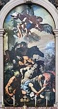 Santa Giustina (Padua) - Chapel of St. Daniel of Padua - Martyrdom of Saint Daniel by Antonio Zanchi.jpg