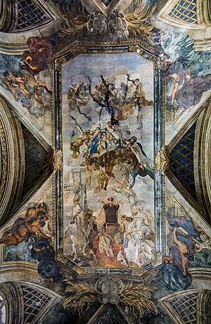 Scalzi, Venice - Image: Santa Maria degli Scalzi (Venice) Ceilling by Ettore Tito