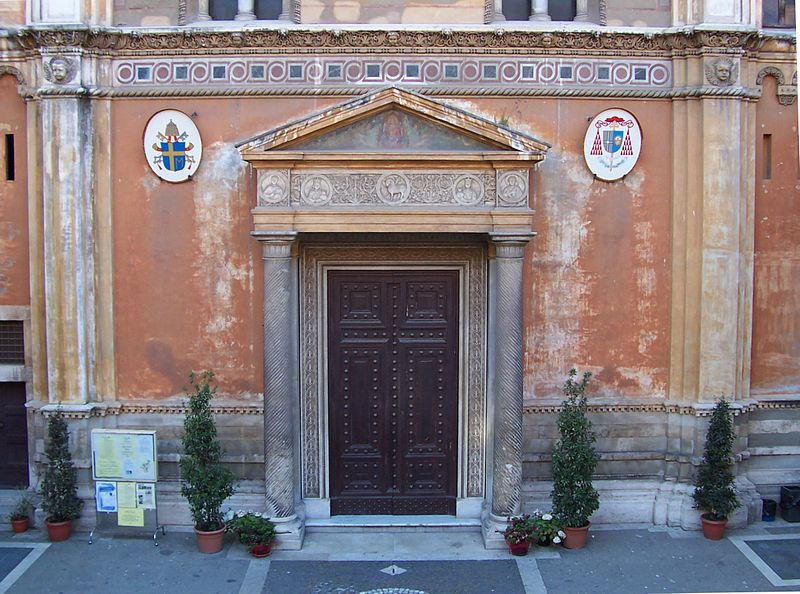 File:Santa Pudenziana - portale.jpg