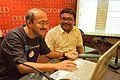 Santanu Chandra and Amartya Talukdar - Editing Session - Wikilearnopedia - Oxford Bookstore - Kolkata 2015-08-23 3643.JPG