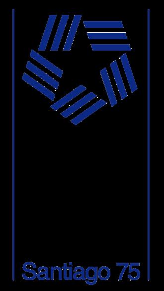 1975 Pan American Games - Logo of Santiago as host city.