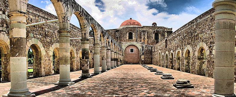 Dominican ex-convent of Santiago Apóstol in Cuilapan de Guerrero, Oaxaca, Mexico
