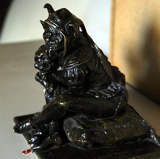 Le roi s'amuse - The character Triboulet (sculpture by Sarah Bernhardt)