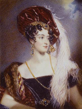 Sarah Villiers, Countess of Jersey - Sarah Sophia Child Villiers, Countess of Jersey (née Fane) (Alfred Edward Chalon)