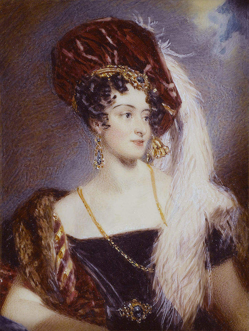 Sarah Sophia Child Villiers, Countess of Jersey (née Fane) (1785-1867), by Alfred Edward Chalon.jpg