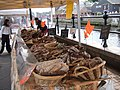 Sausage stall, Haverfordwest French Market - geograph.org.uk - 226610.jpg