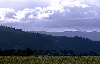 Sauvie Island - Looking west across the fields from Gillihan Road