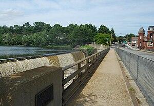 Saxonville, Massachusetts - Dam on Sudbury River at Saxonville