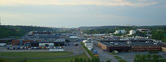 Automotive industry in Sweden - Scania's truck plant in Södertälje.