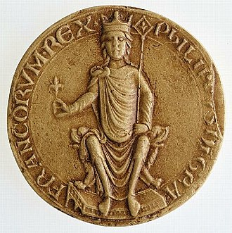 Philip II of France - Seal of Philip II