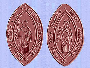 Psalmody Abbey - Seal of the Abbey 1317.