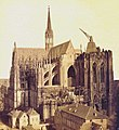 Schönscheidt, J. H. & Th. - Cologne Cathedral, western facade, south tower with historic crane, 1865.jpg