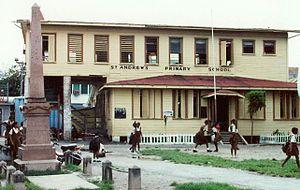 Education in Guyana - A primary school in Georgetown, Guyana.