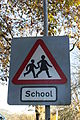 School sign, Spa, November 2010.JPG