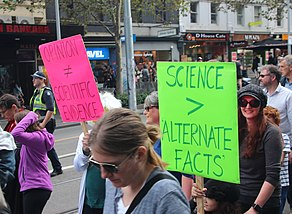 Science Alternative Facts - Melbourne -MarchforScience on -Earthday (34050257772).jpg