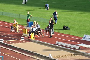 Long jumper at the GE Money Grand Prix in Hels...