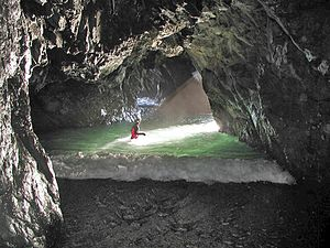 Sea cave - Exploring a sea cave